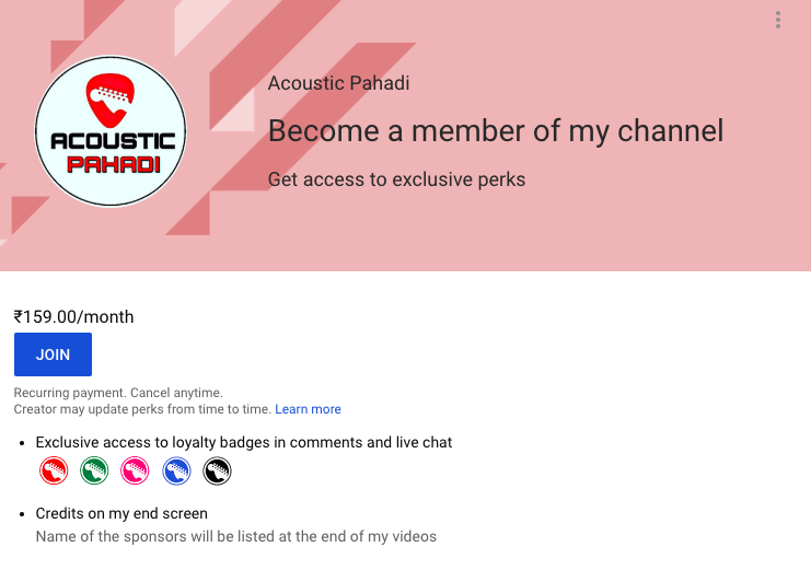 Looks like YouTube is rolling out membership / subscriptions